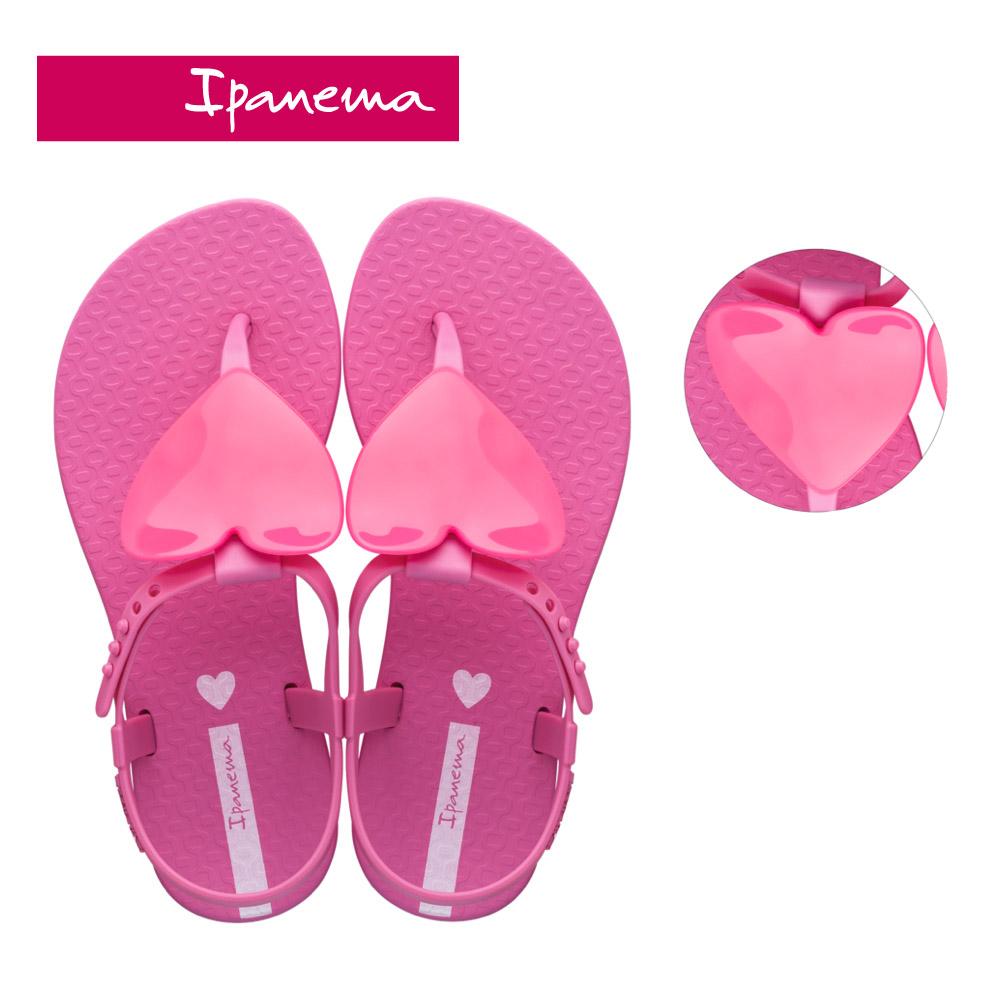 Ipanema [KIDS] CLASS LOVE愛心T字涼鞋-桃紅(2656322158)