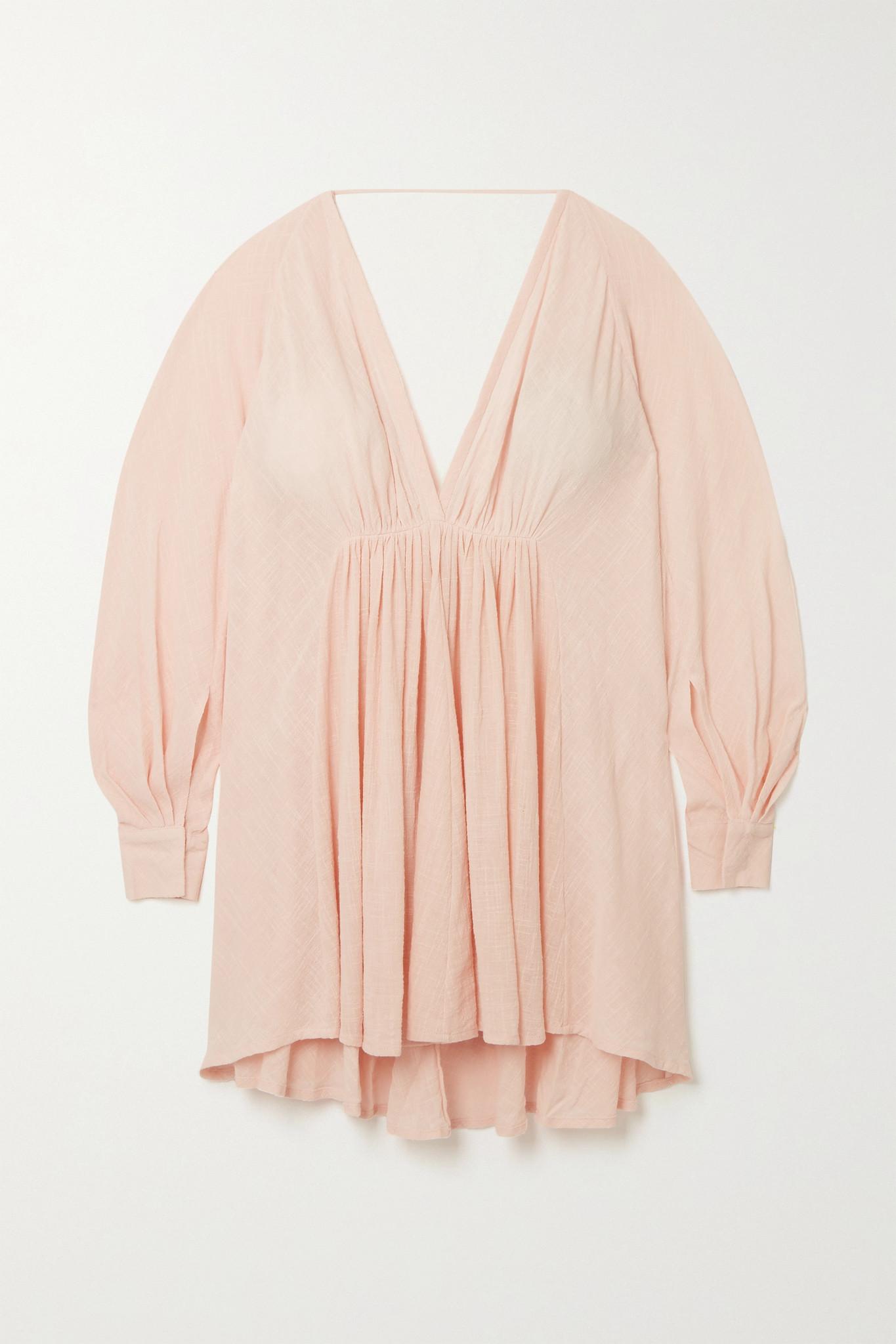 KALITA - Always The Muse Cotton-gauze Mini Dress - Pink - M/L