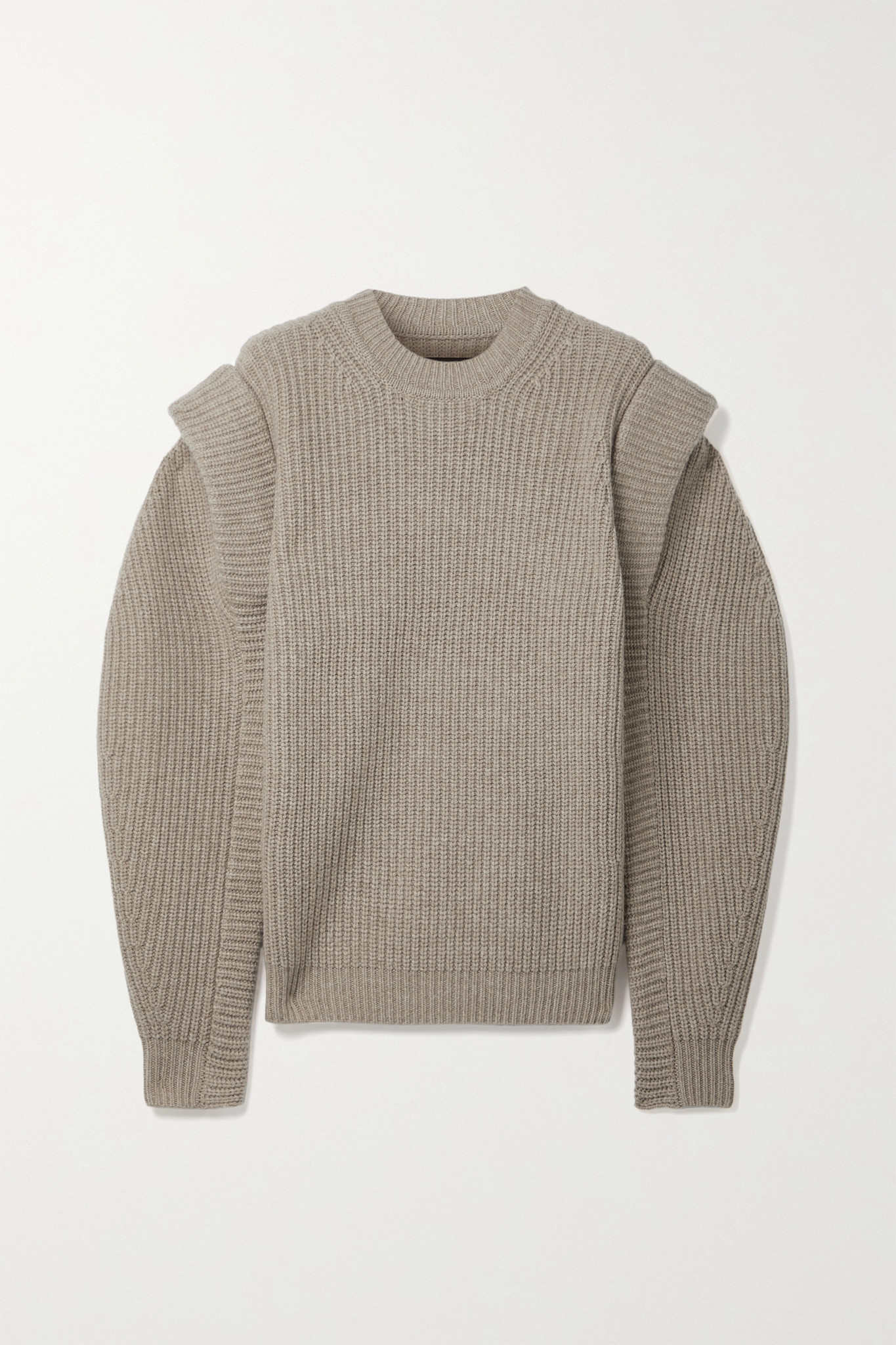 ISABEL MARANT - Bolton Ribbed Merino Wool And Cashmere-blend Sweater - Brown - FR36
