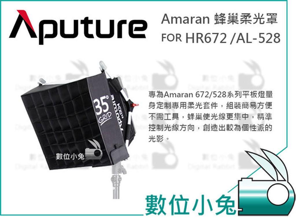 數位小兔【Aputure Amaran 蜂巢柔光罩FOR HR672 /AL-528】EZ Box 柔光罩 快速輕便