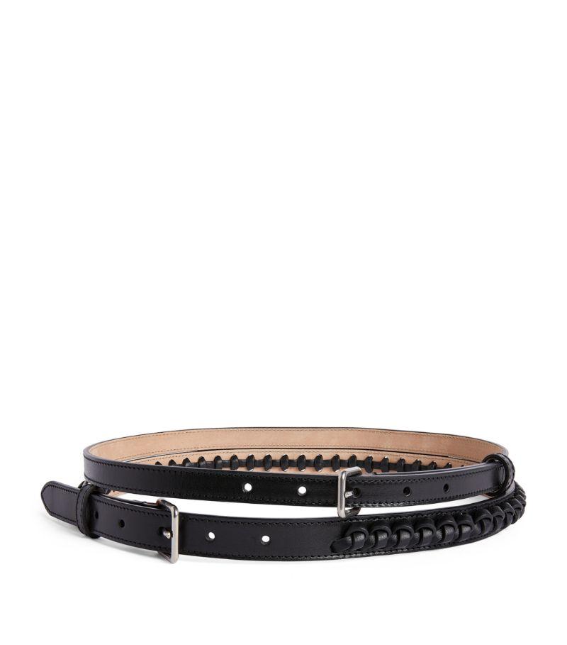 Alexander Mcqueen Leather Double Belt