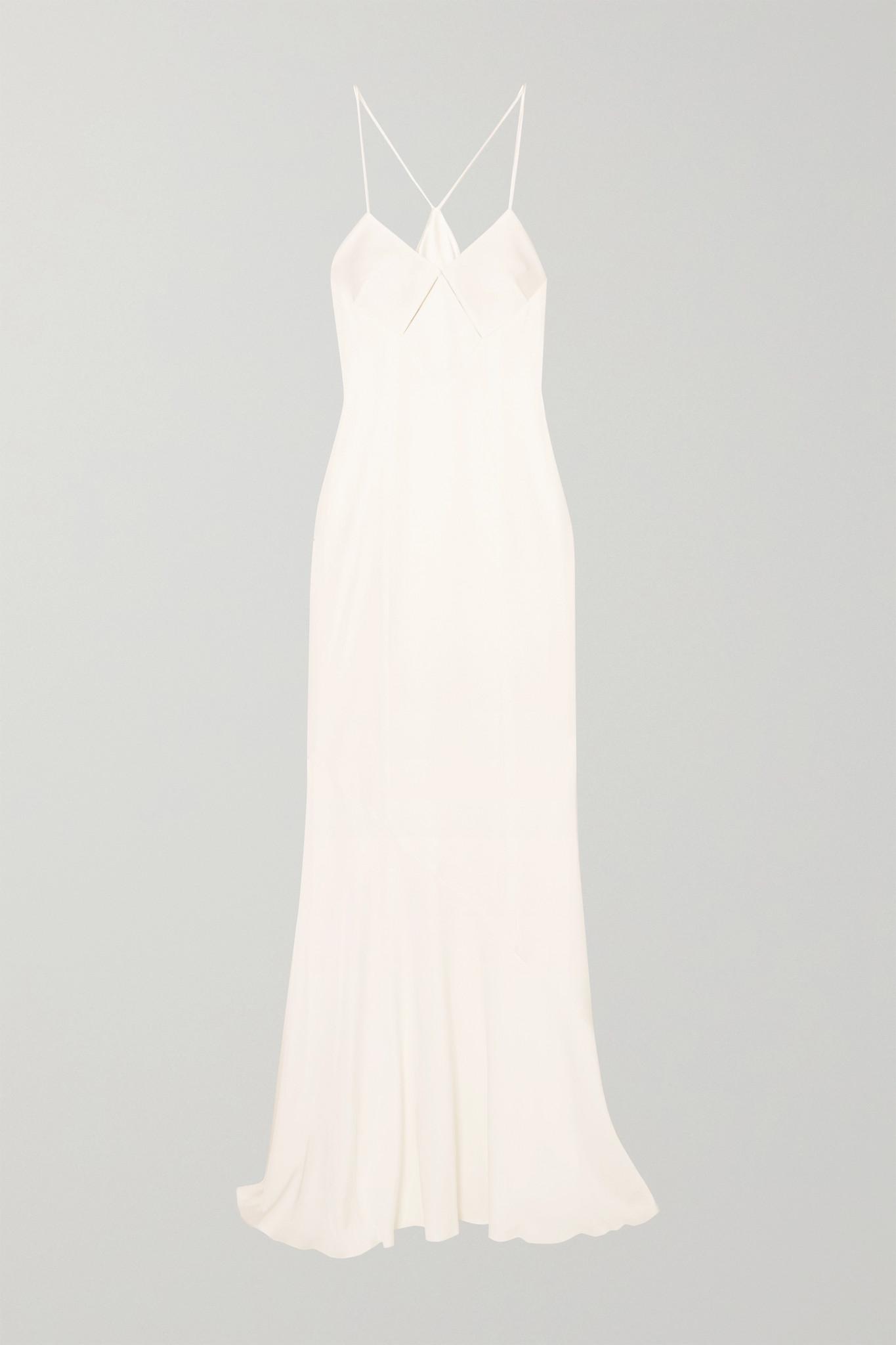 GALVAN - 挖剪缎布礼服 - 白色 - FR40