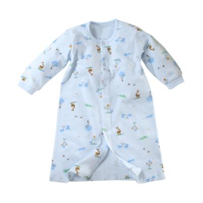 魔法Baby 嬰幼兒長袍 台灣製秋冬保暖厚款純棉長睡袍  b0314