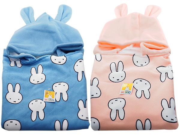 米飛兔連帽浴巾(兒童)60x120cm(1件入) 款式可選【D762762】miffy