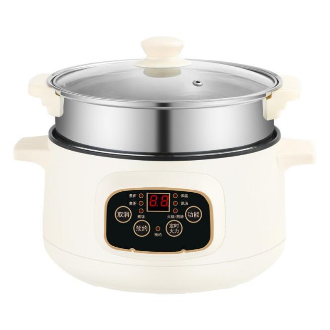 【現貨】110V多功能電熱鍋-多用電鍋-不粘電炒鍋-智能電煮-電飯煲-湯鍋-快煮鍋-美食鍋-帶蒸籠/可開超取