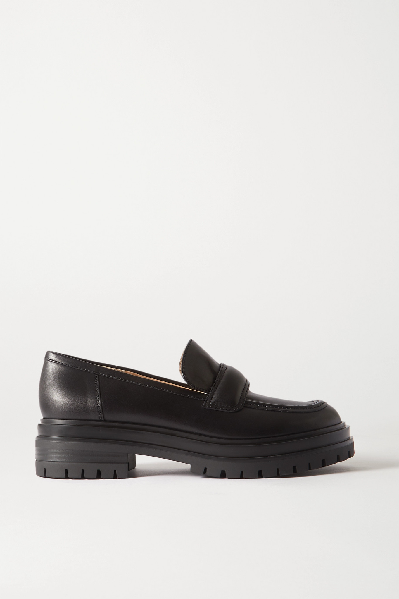 GIANVITO ROSSI - Leather Loafers - Black - IT35.5