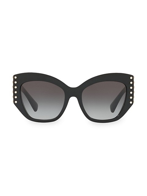Individual 54MM Embellished Cat Eye Sunglasses
