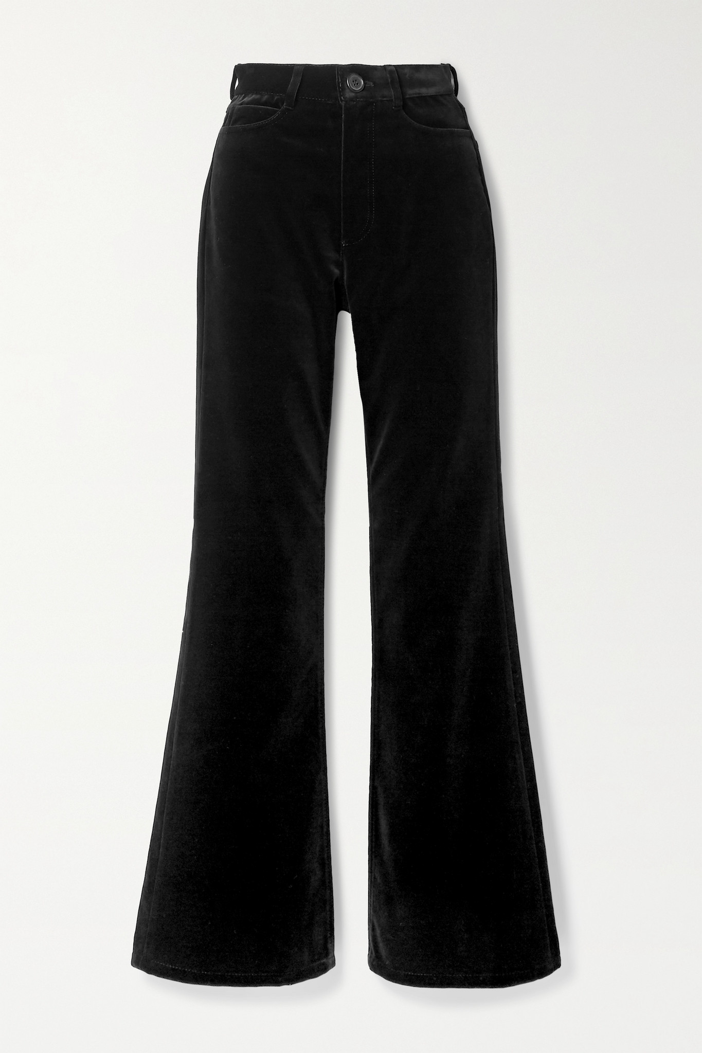 MERYLL ROGGE - Cotton-velvet Flared Pants - Black - 27