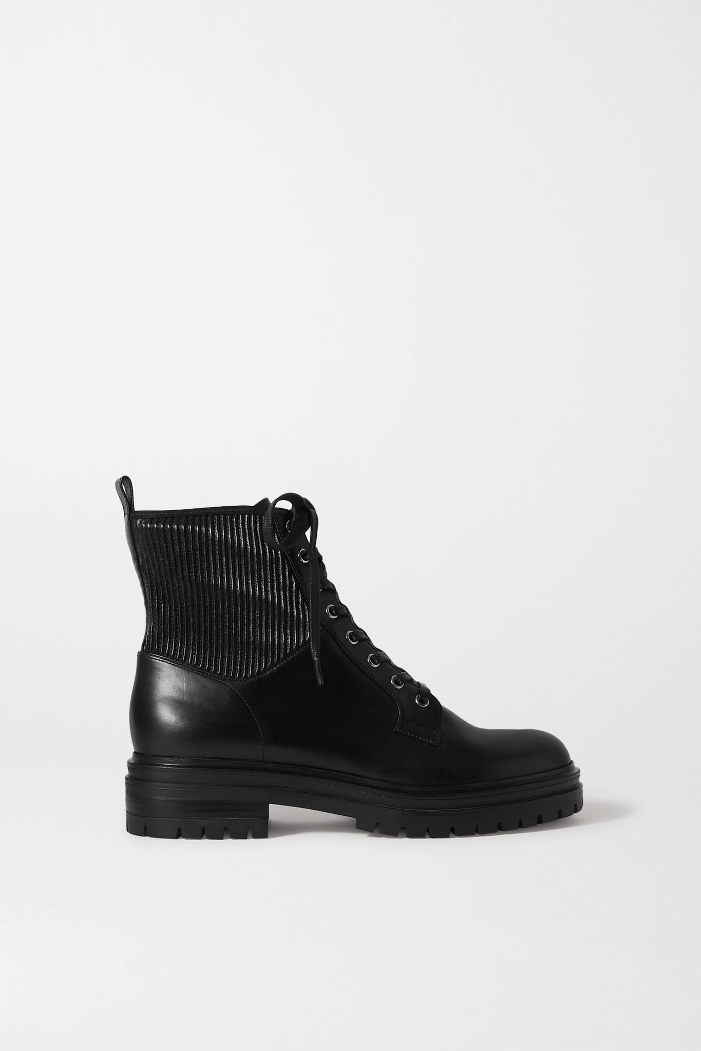 GIANVITO ROSSI - Martis 40 皮革踝靴 - 黑色 - IT39.5
