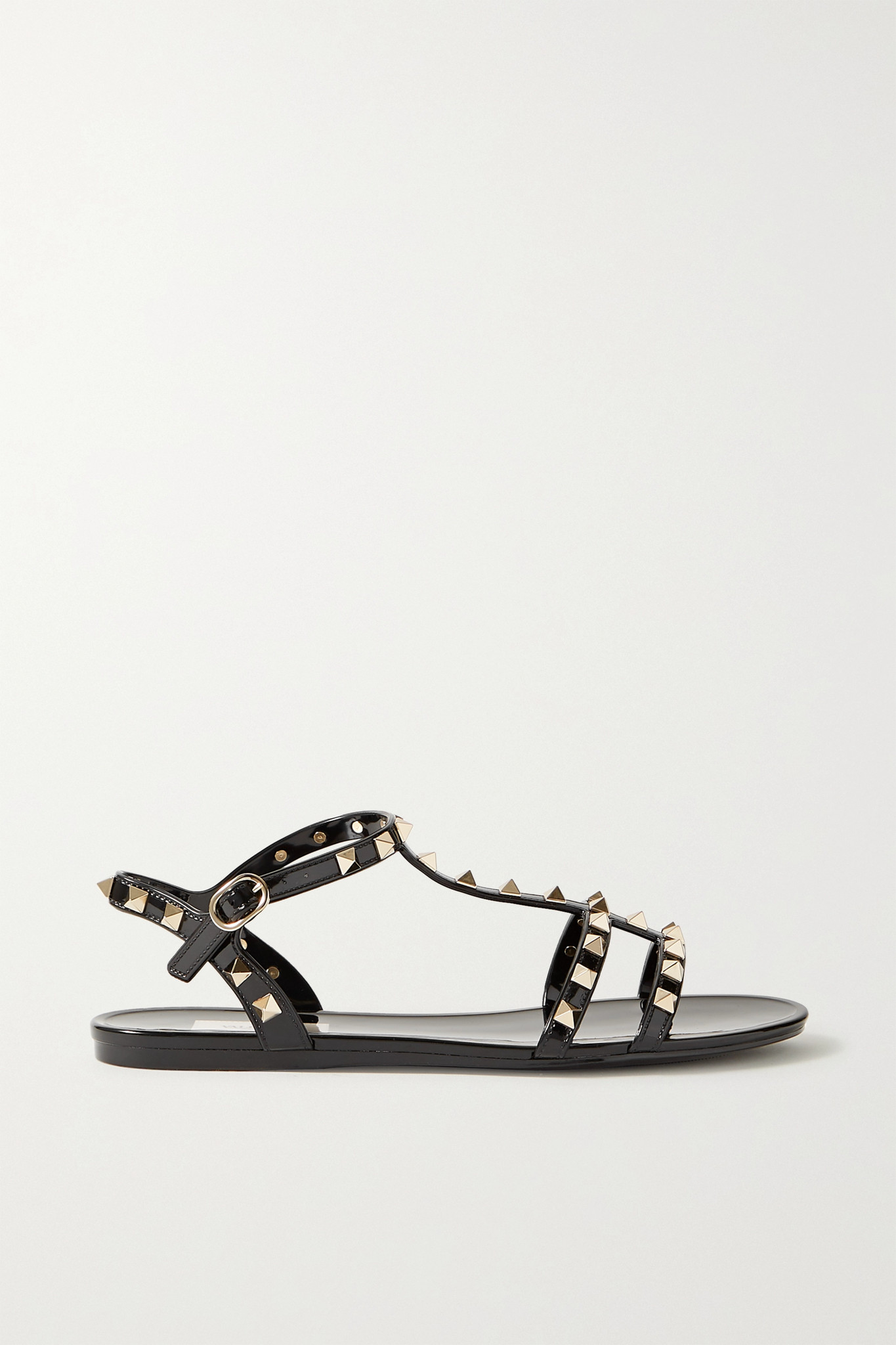 VALENTINO - Valentino Garavani Rockstud Rubber Sandals - Black - IT37