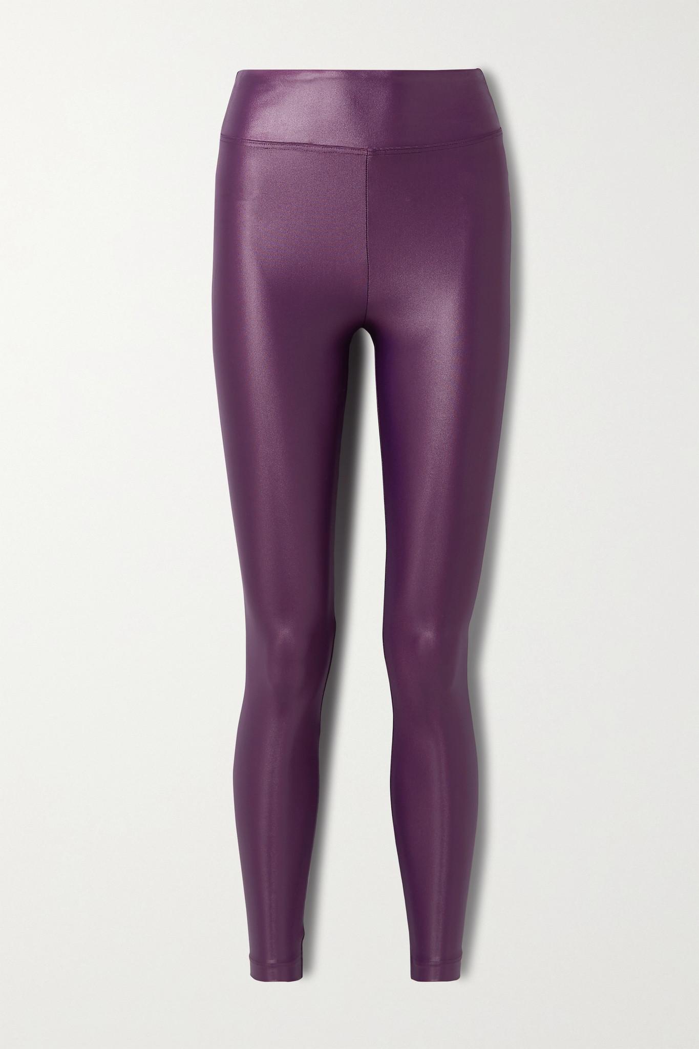 KORAL - Lustrous Stretch Leggings - Purple - large