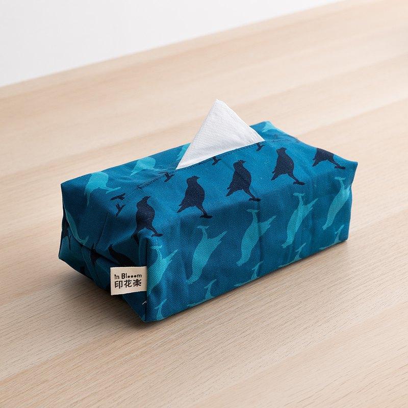 長方形面紙套/台灣八哥5號/湖心藍色