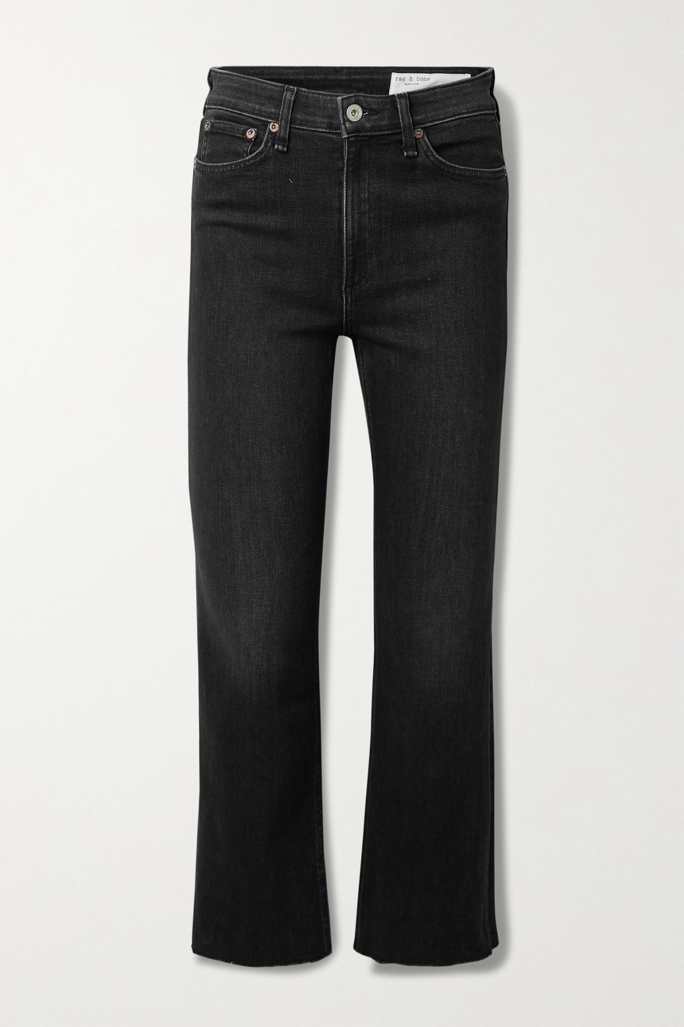 RAG & BONE - Nina Cropped High-rise Flared Jeans - Black - 31