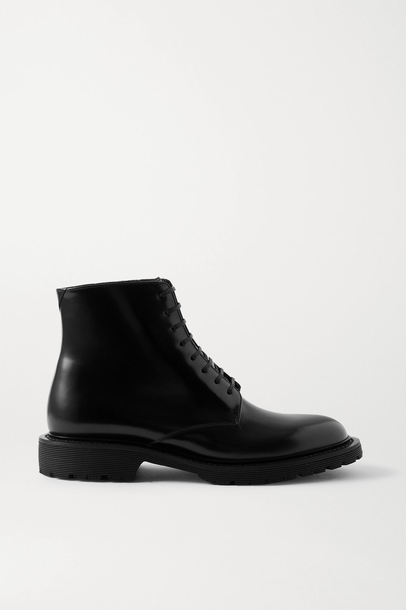 SAINT LAURENT - Army 皮革踝靴 - 黑色 - IT39.5