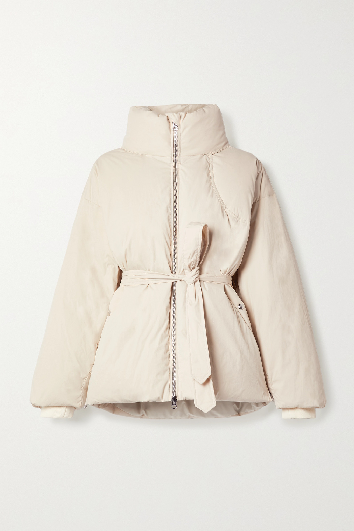 RAG & BONE - Donna Belted Quilted Cotton-blend Shell Down Coat - Neutrals - medium