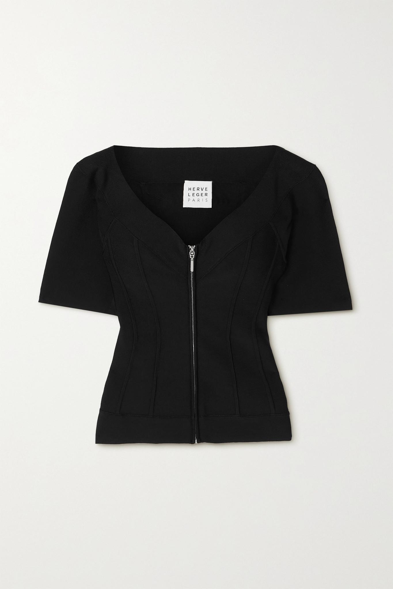 HERVÉ LÉGER - 绷带外套 - 黑色 - medium