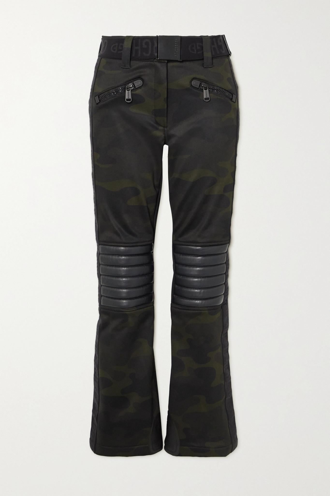GOLDBERGH - Battle Belted Camouflage-print Bootcut Ski Pants - Green - UK12