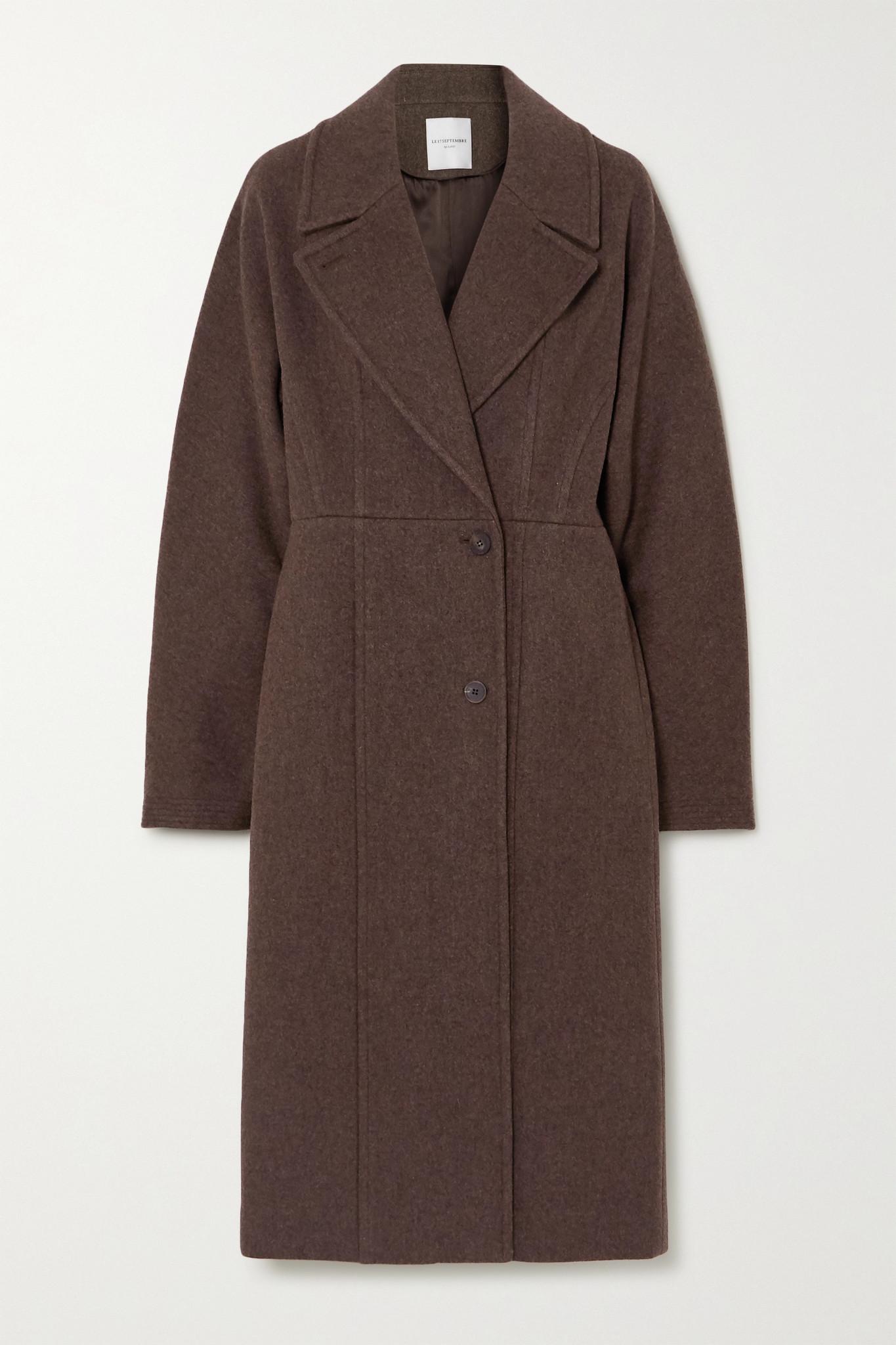 LE 17 SEPTEMBRE - Line Wool-blend Coat - Brown - FR38