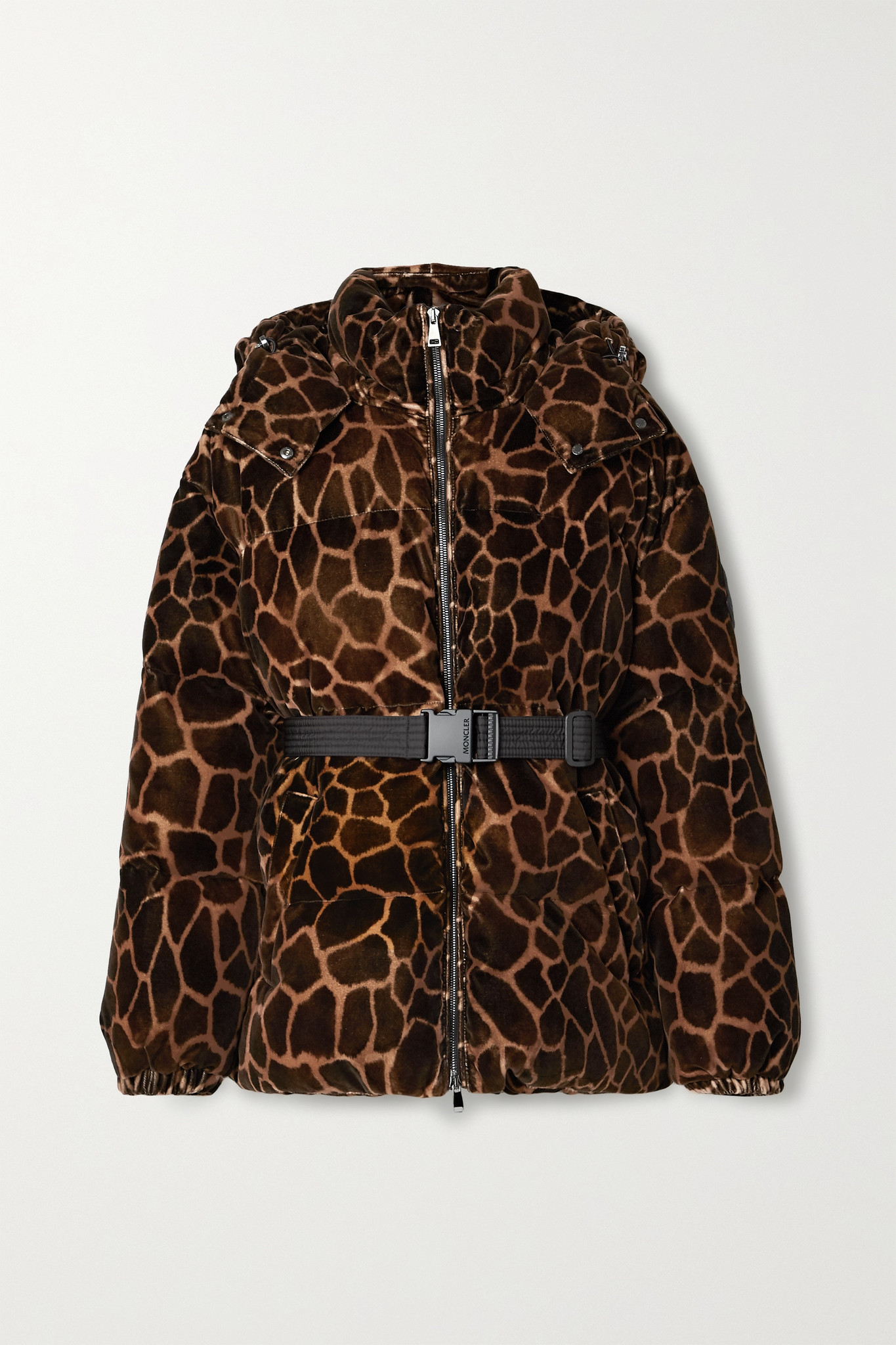 MONCLER - Kundogi Animal-print Quilted Cotton-velvet Down Jacket - Brown - 1