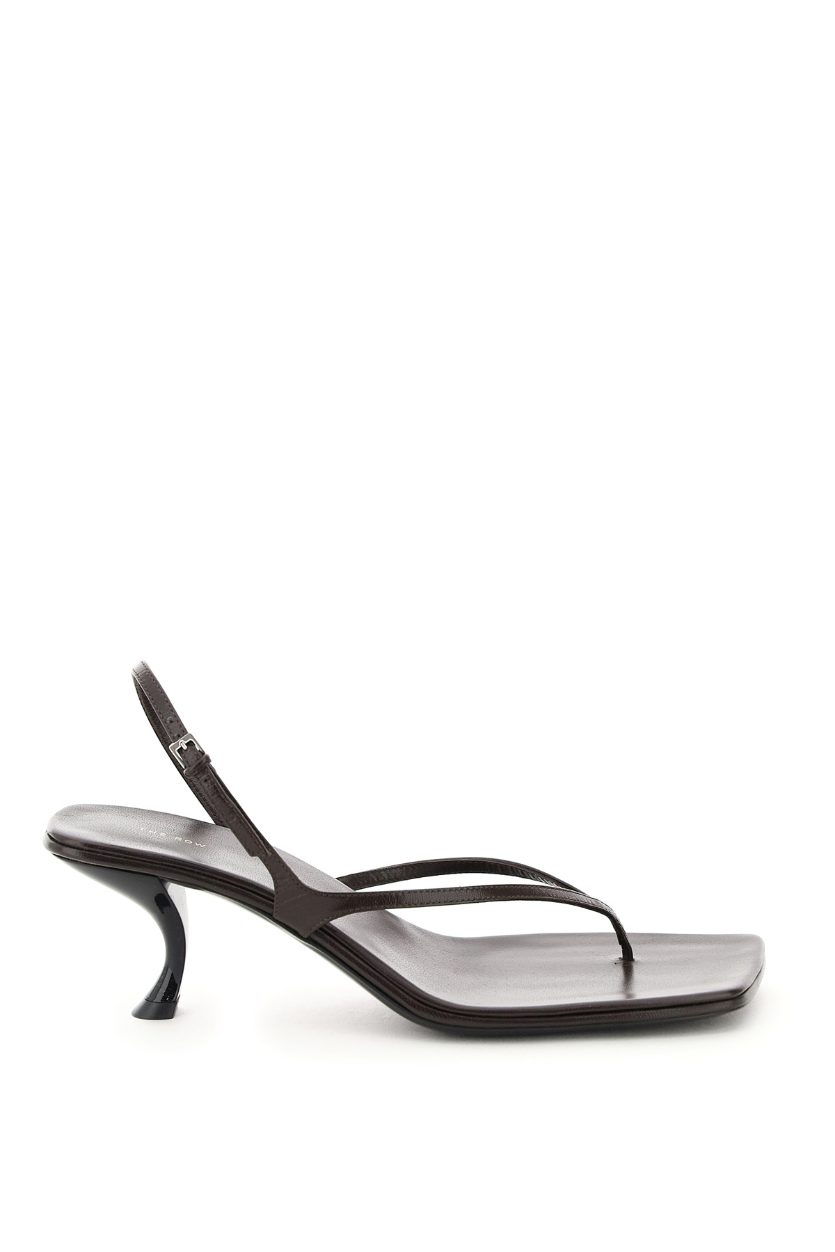 THE ROW CONSTANCE THONG SANDALS 38 Brown Leather