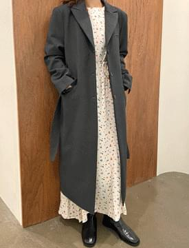 韓國空運 - Sienna double long belt coat 大衣外套