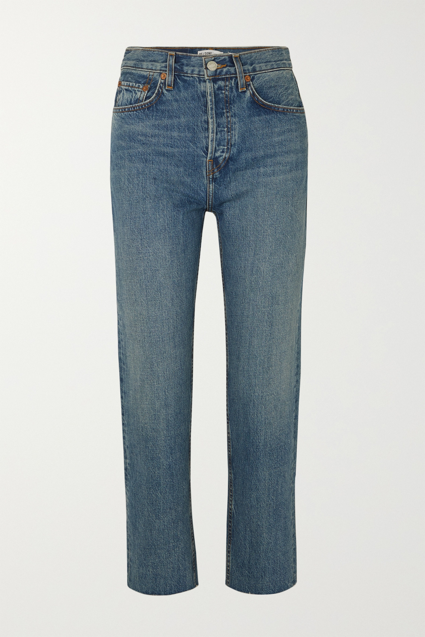 RE/DONE - Originals Stove Pipe High-rise Straight-leg Jeans - Blue - 30