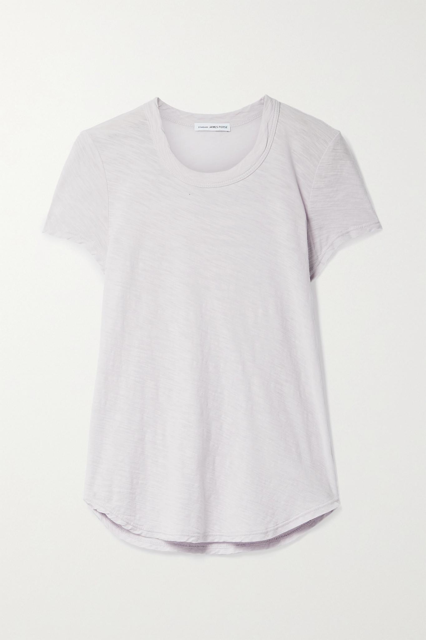 JAMES PERSE - Slub Supima Cotton-jersey T-shirt - Purple - 2