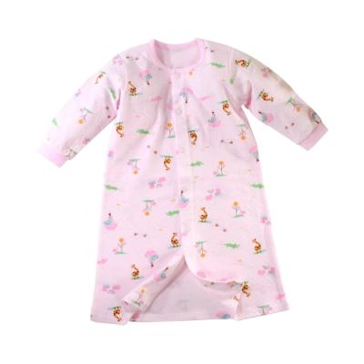 魔法Baby 嬰幼兒長袍 台灣製秋冬保暖厚款純棉長睡袍  b0316