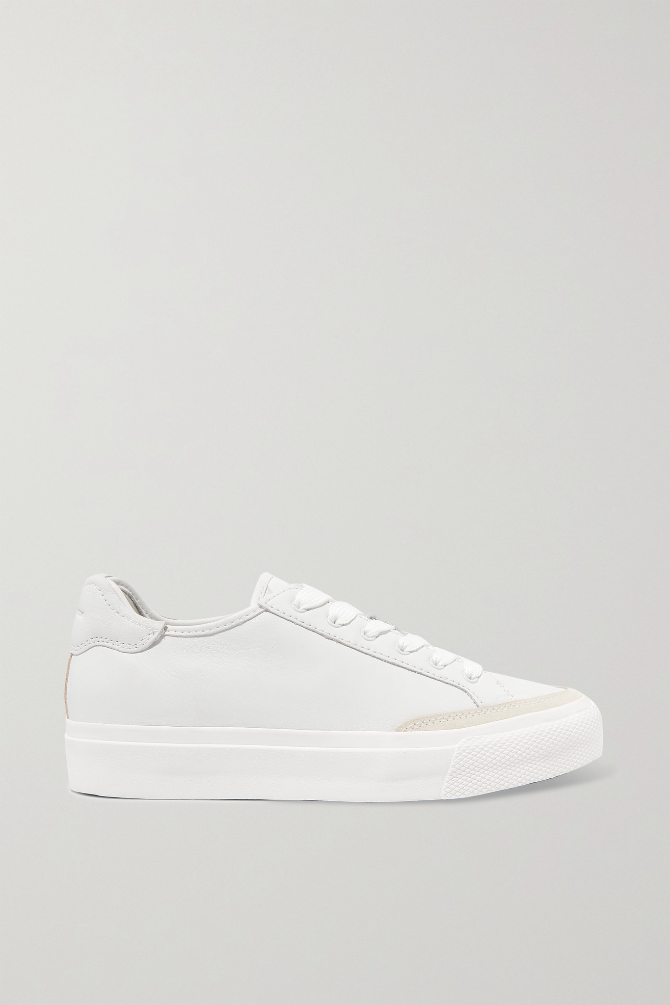 RAG & BONE - Army Suede-trimmed Leather Sneakers - White - IT36