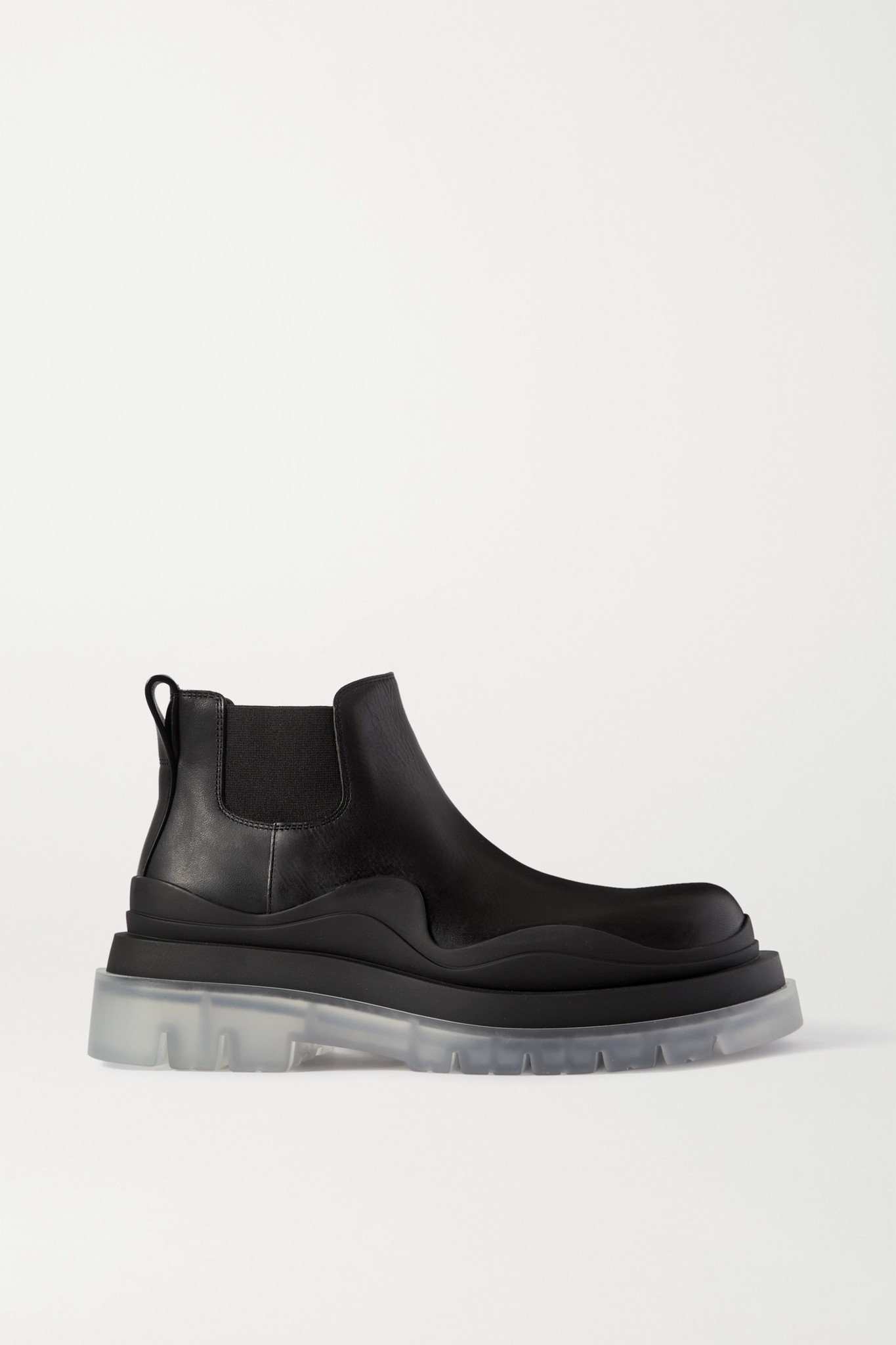 BOTTEGA VENETA - Rubber-trimmed Leather Chelsea Boots - Black - IT34