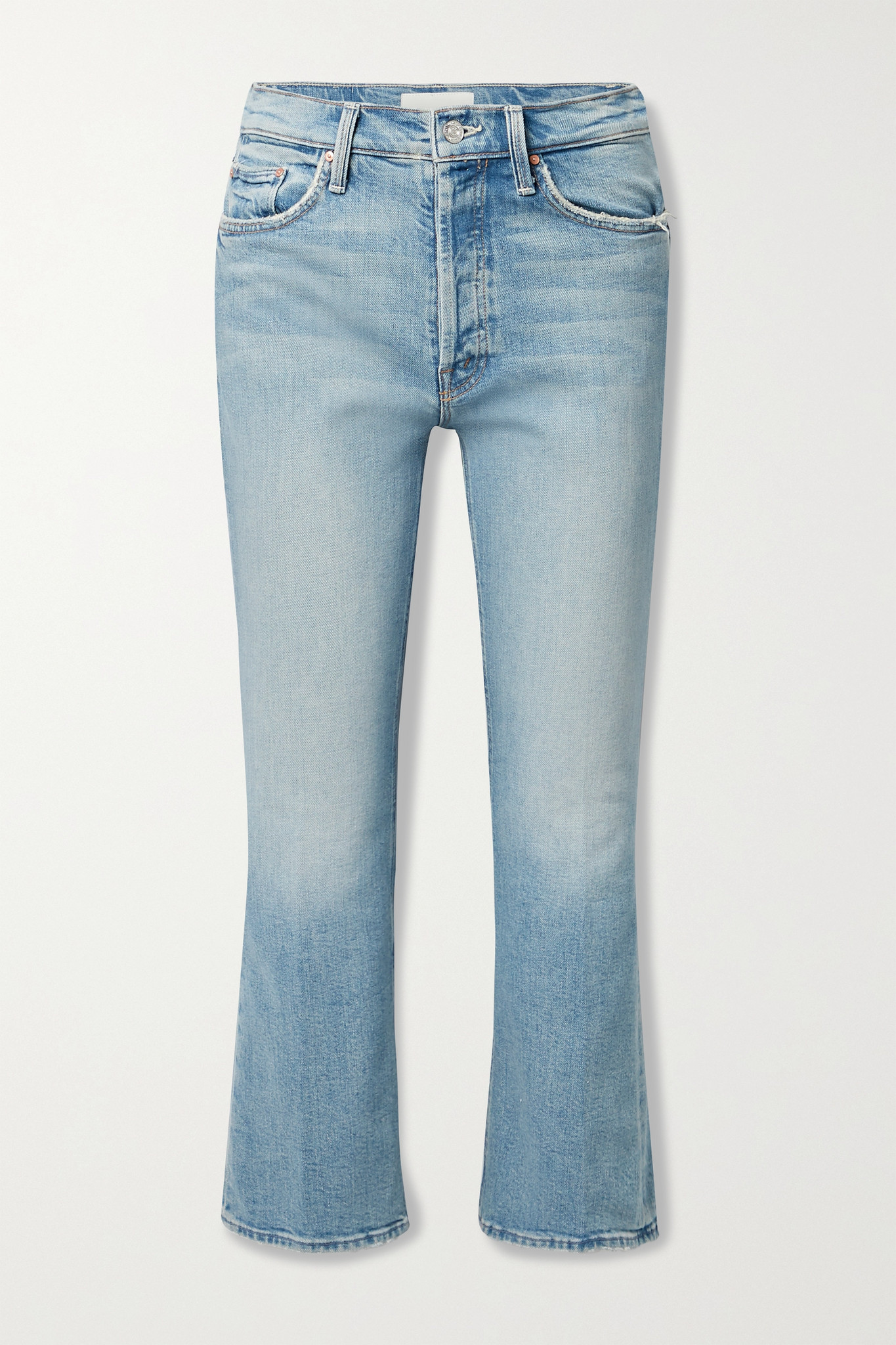 MOTHER - The Tripper Cropped High-rise Flared Jeans - Blue - 32
