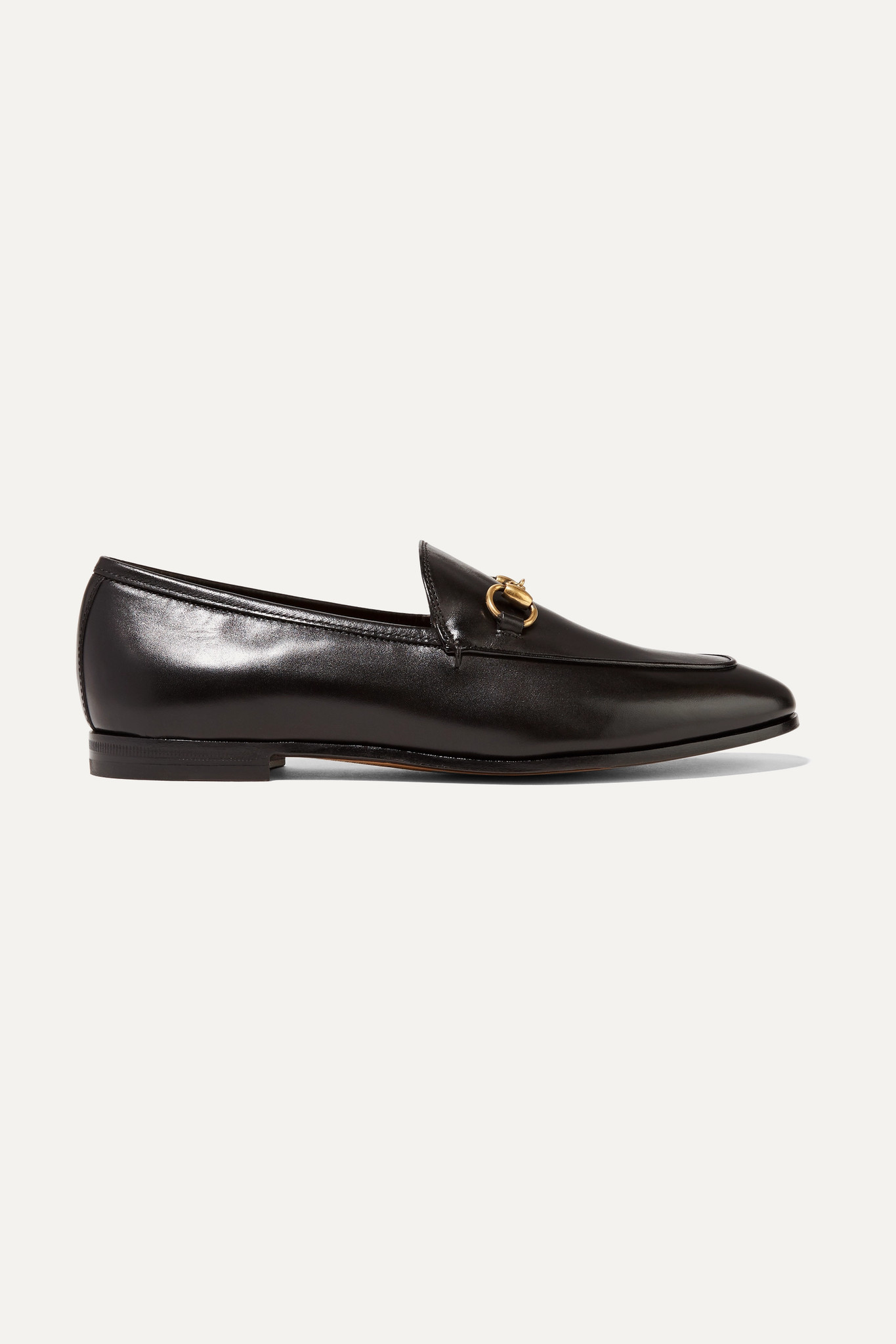 GUCCI - Jordaan Horsebit-detailed Leather Loafers - Black - IT42