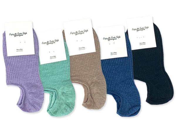 霓虹之春繽紛色系坑條船型襪(1雙入) 顏色可選【D050231】