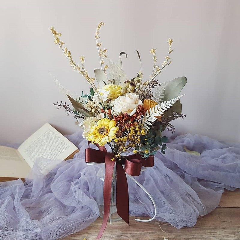 小捧花   森林綠_永生花 求婚 婚禮 新娘捧花 伴娘捧花 拍照捧花