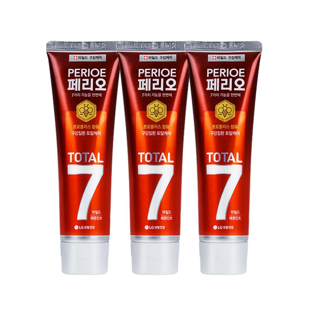 倍麗兒 7效蜂膠牙膏-青檸紅120gx3【康是美】