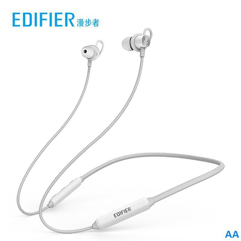 熱銷EDIFIER/漫步者 W200BT無線藍牙耳機雙耳掛脖式運動跑步掛耳式入耳式耳麥安卓通用超長待機超長續航
