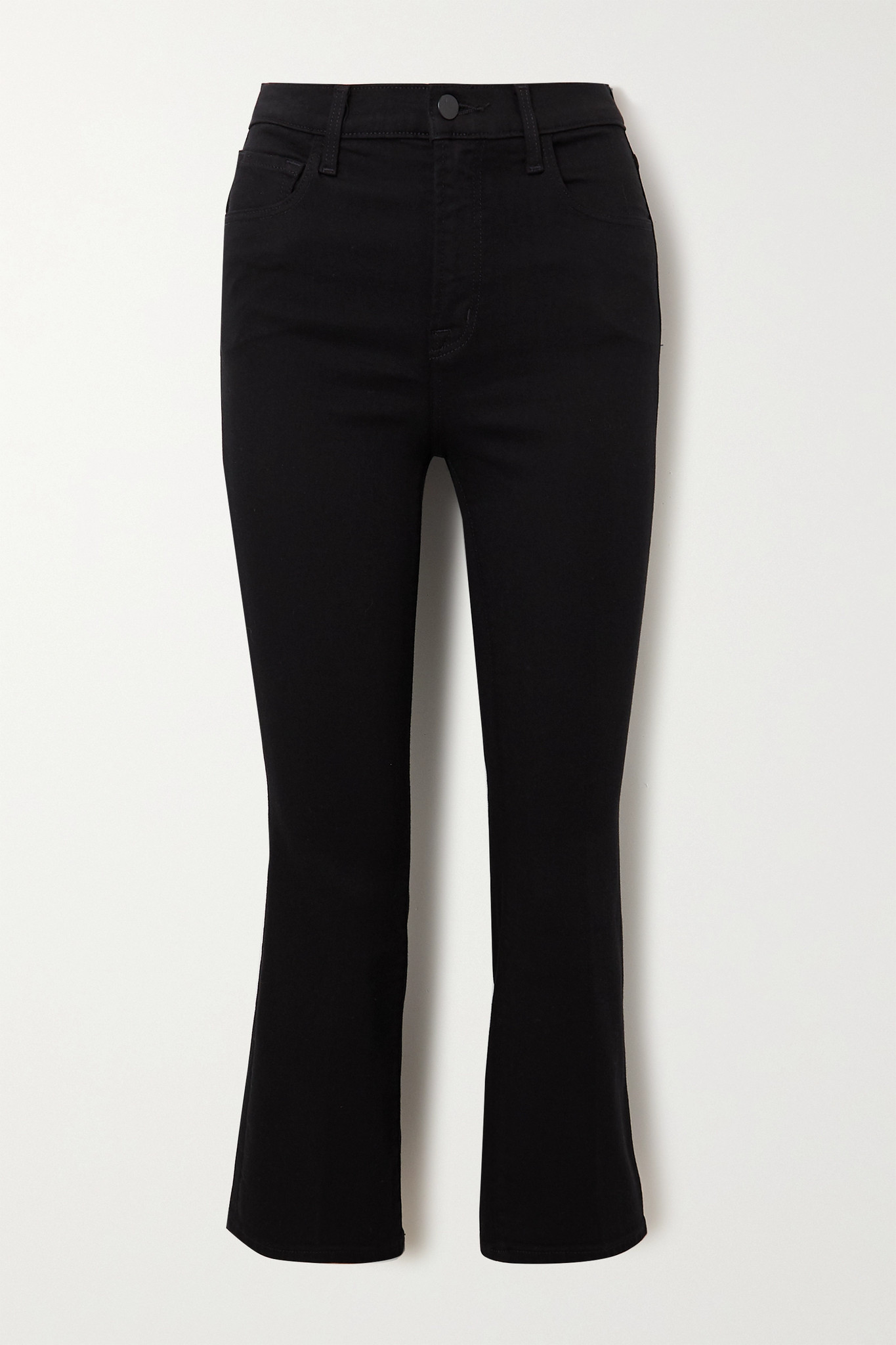 J BRAND - Franky Cropped High-rise Bootcut Jeans - Black - 31