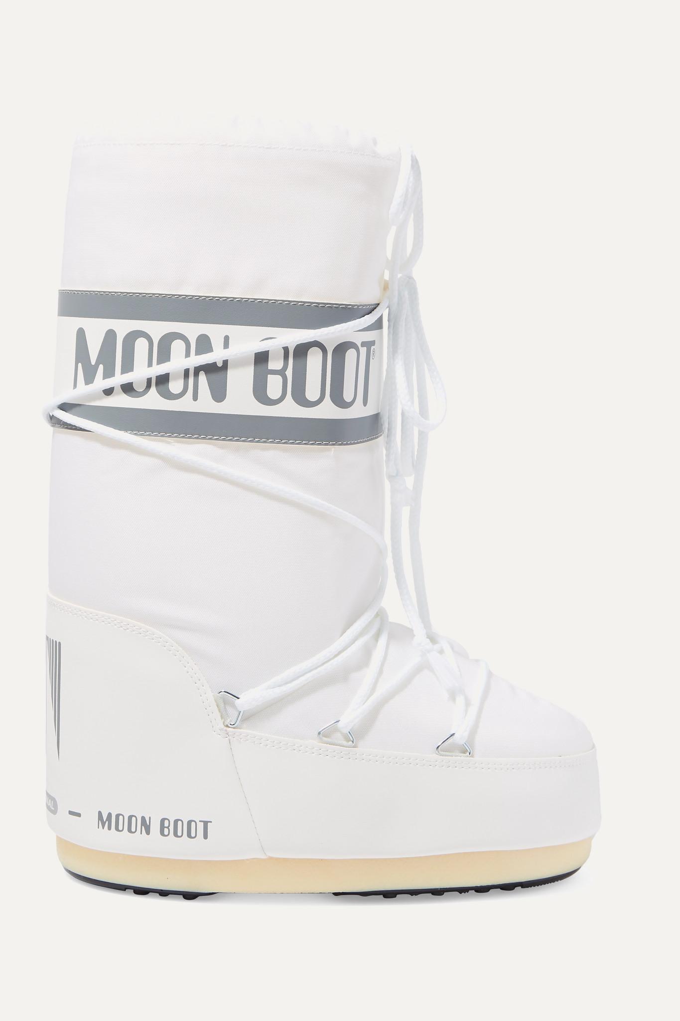 MOON BOOT - 软壳面料人造皮革雪地靴 - 白色 - 42/44