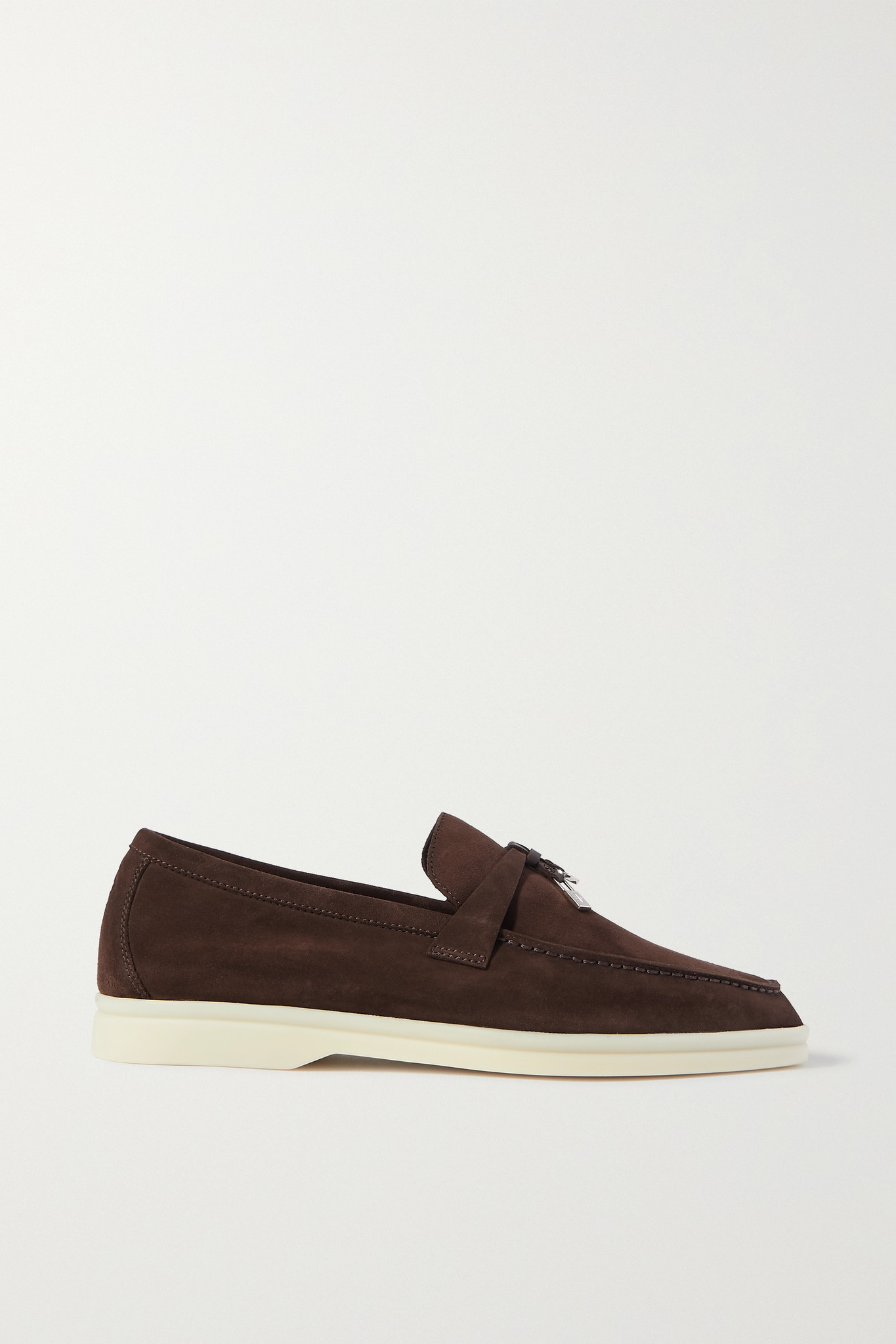 LORO PIANA - Summer Charms Walk Suede Loafers - Brown - IT38