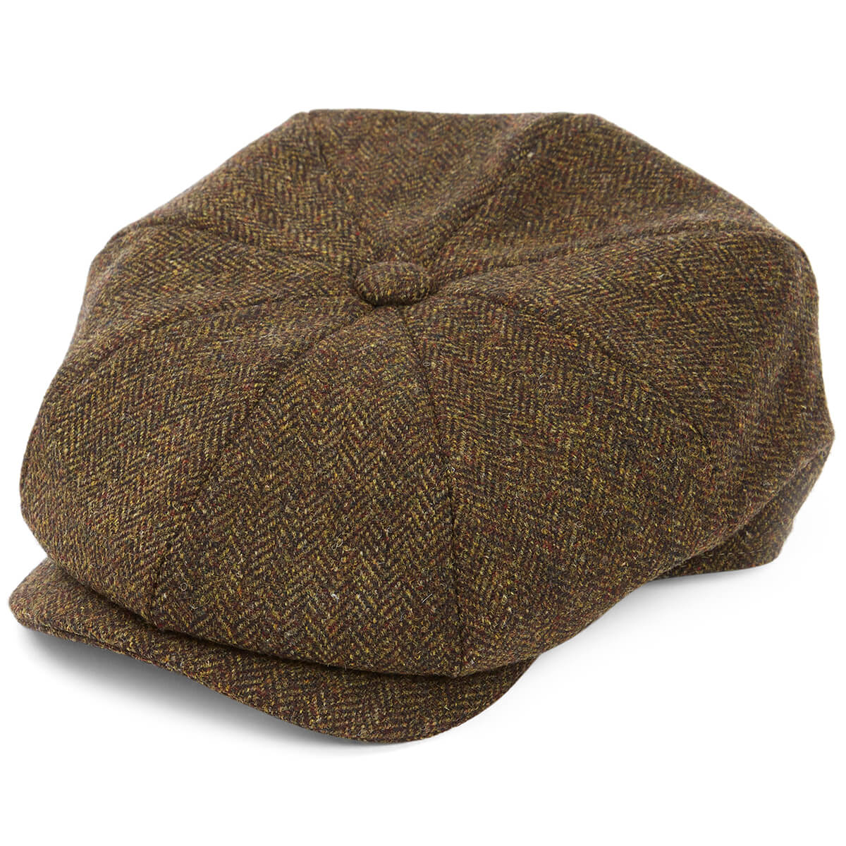 8 Piece Baker Boy Tweed Flat Cap - Z506 - size S