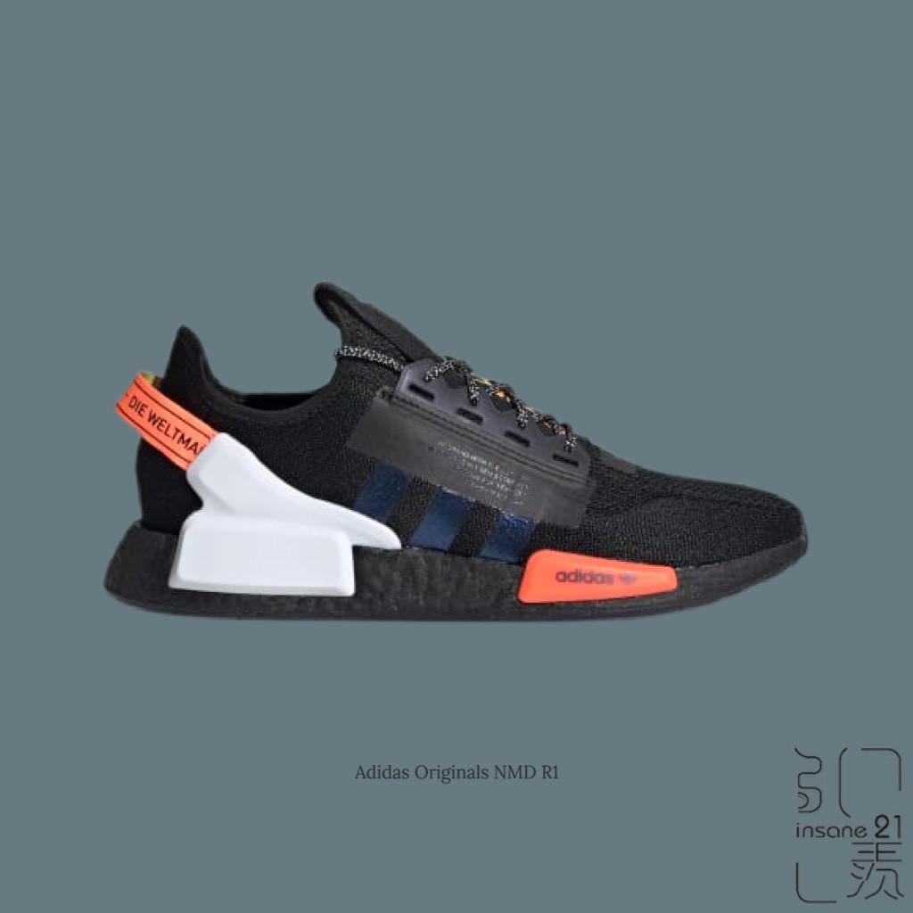 ADIDAS ORIGINALS NMD R1 V2 雷射 黑橘白 太空 絢彩 FY3523【Insane-21】