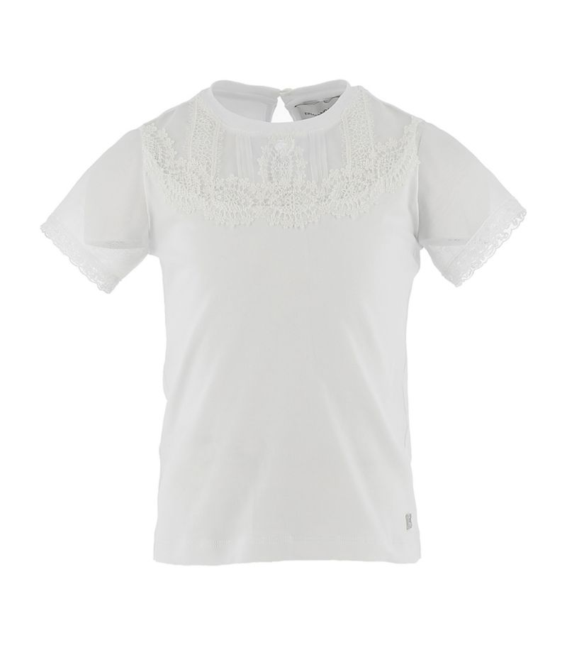 Ermanno Scervino Junior Lace-Detail T-Shirt (4-14 Years)