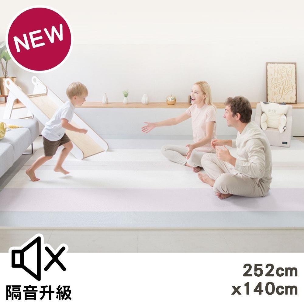 韓國GGUMBI 雙倍加強隔音地墊(252x140)-夢幻多彩紫[免運費]