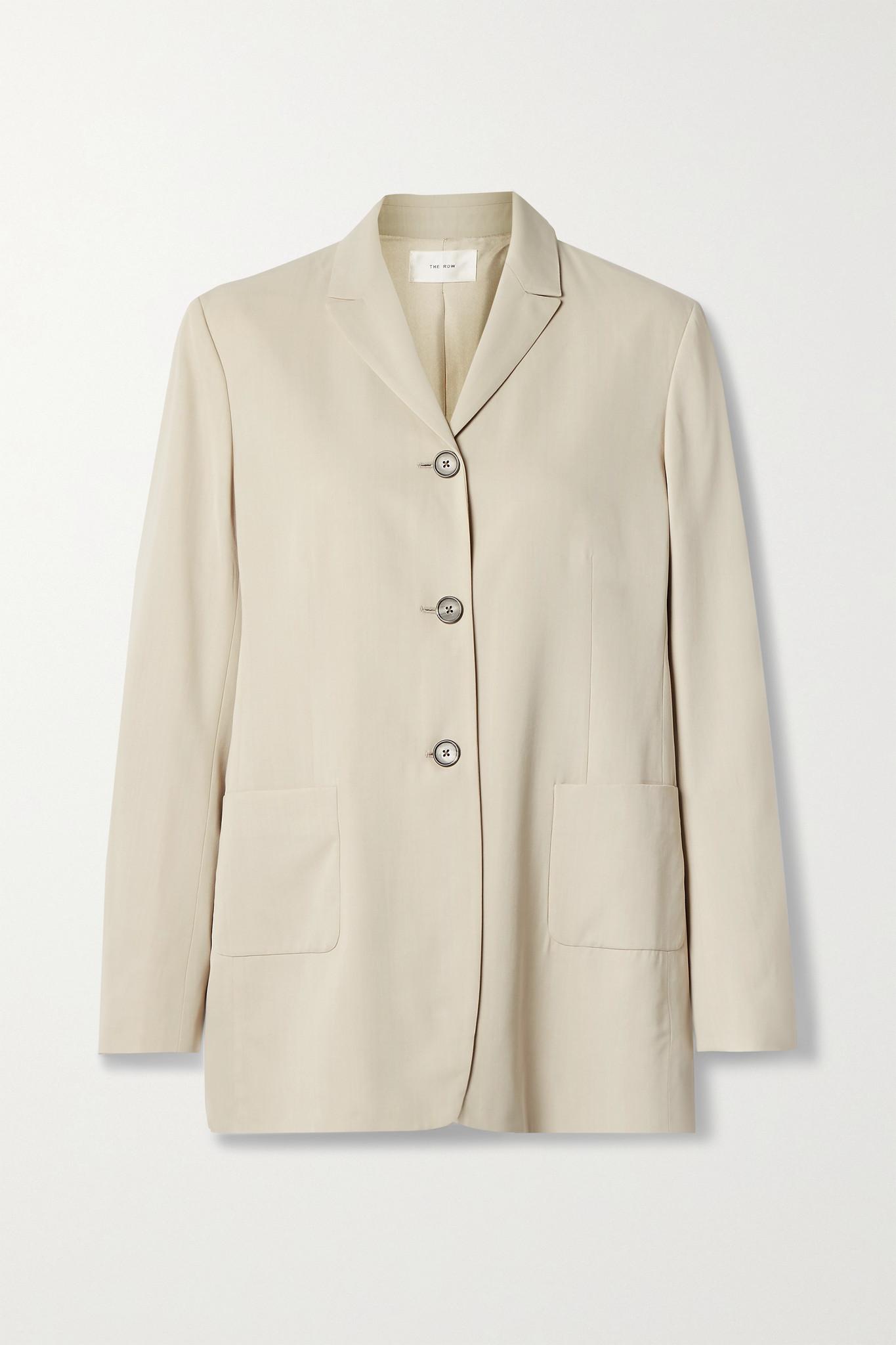 THE ROW - Giedre Woven Blazer - Cream - US0
