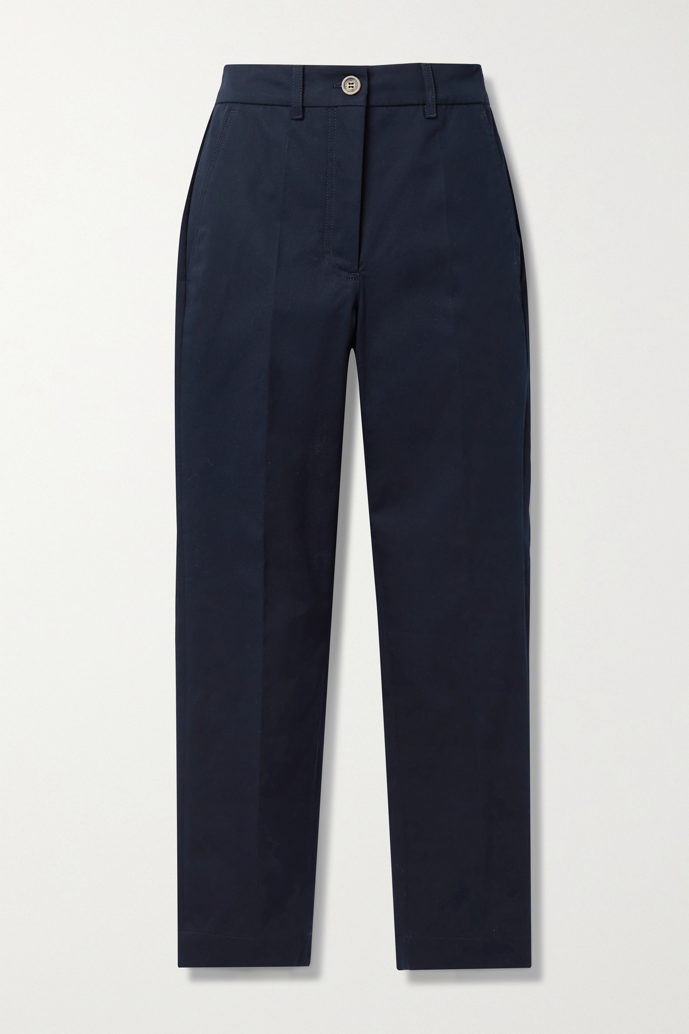 MONCLER - Cotton-blend Twill Tapered Pants - Blue - IT38