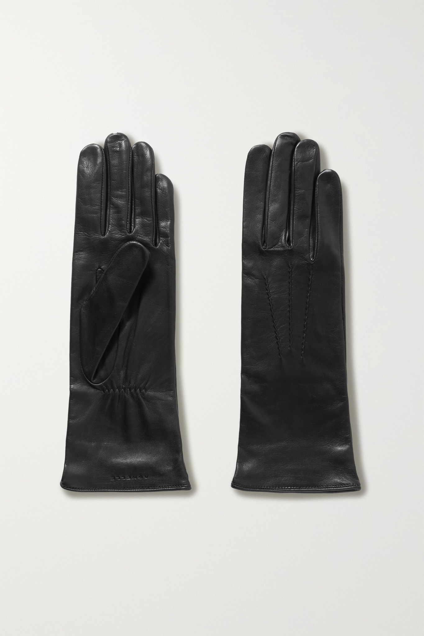 Agnelle - Grace Leather Gloves - Black - 7.5