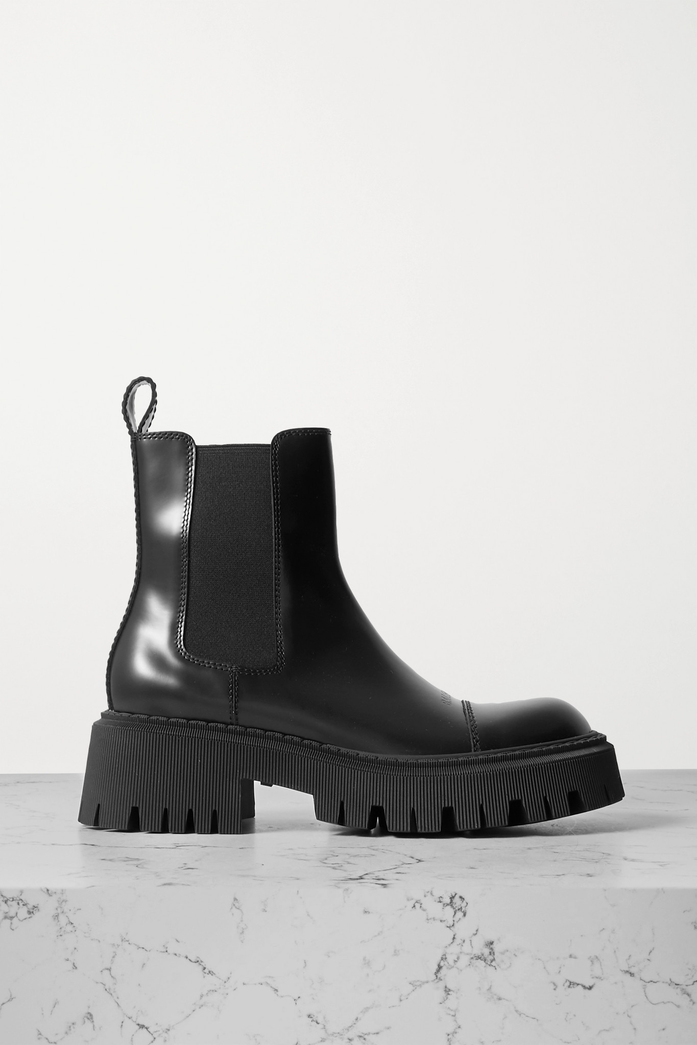 BALENCIAGA - Tractor Leather Ankle Boots - Black - IT37