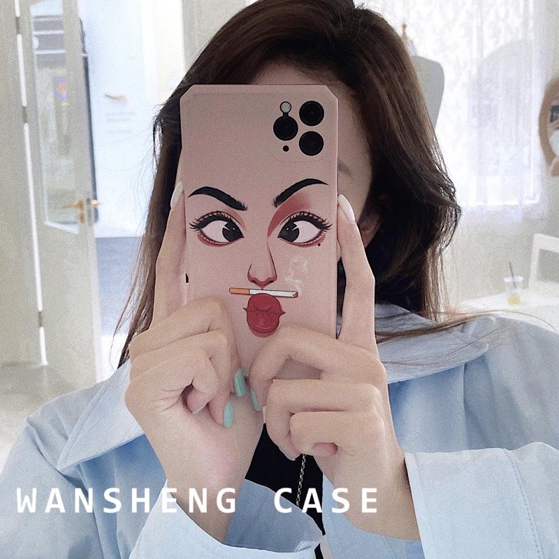 TO惡搞表情12/11Pro/Max蘋果X/XS手機殼iPhone7p女8plus硅膠創意全包攝像頭保護套ins情侶軟殼