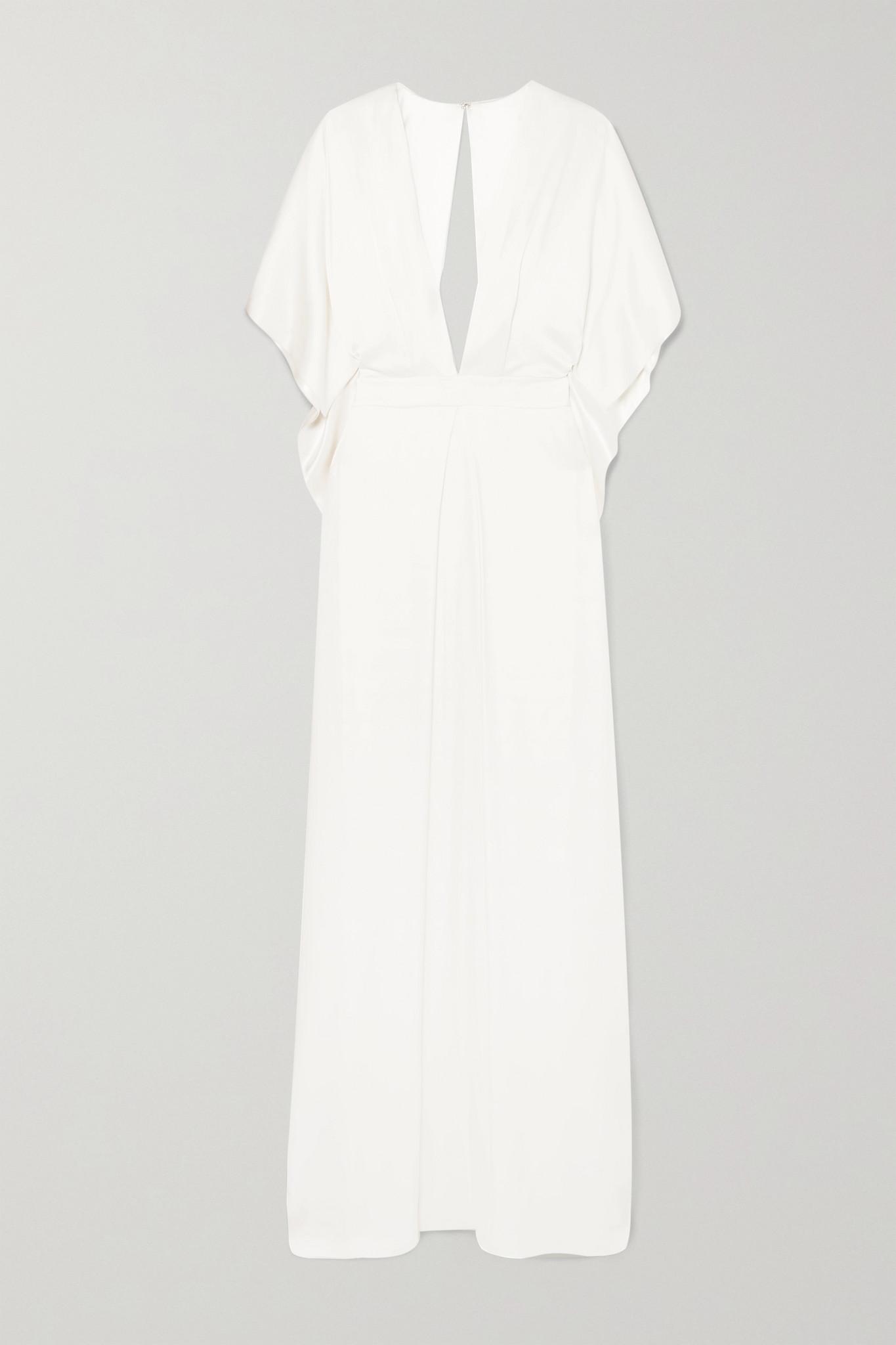 TEMPERLEY LONDON - Cape-effect Silk-satin Gown - Ivory - UK8