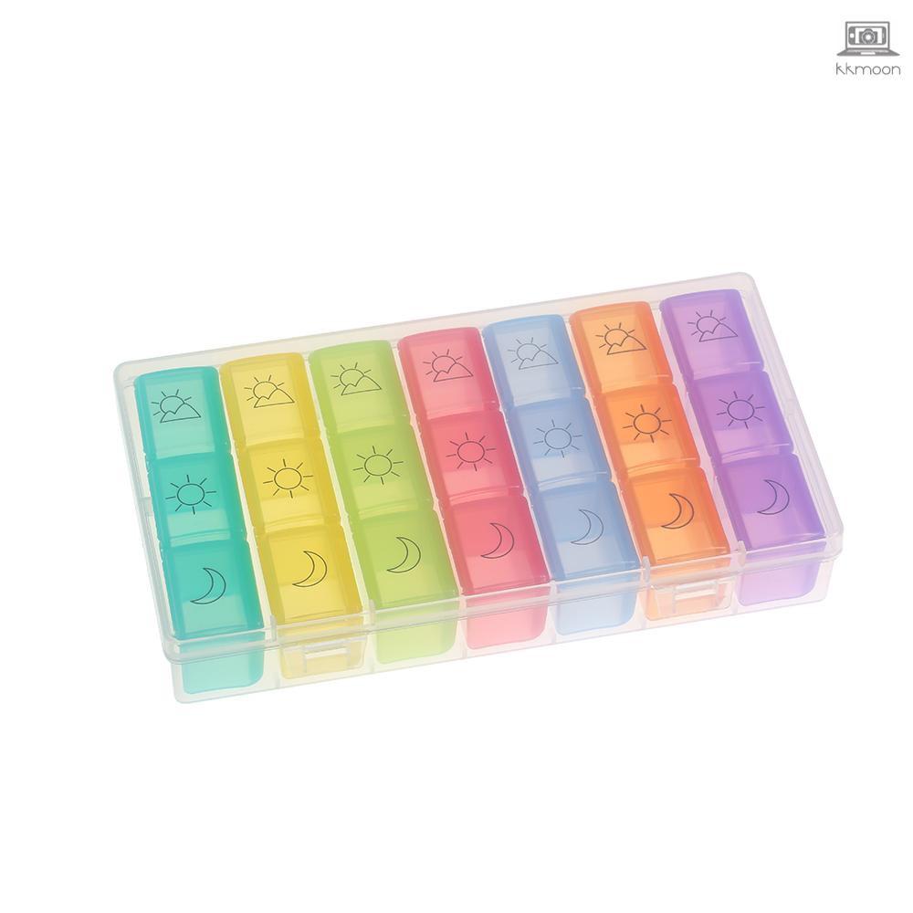 7彩21藥盒一周藥盒便攜藥盒飾品收納盒SYC-2334